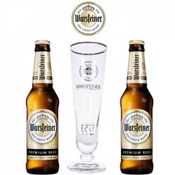 Kit Degustação Warsteiner Premium com 2 Cervejas e 1 Copo