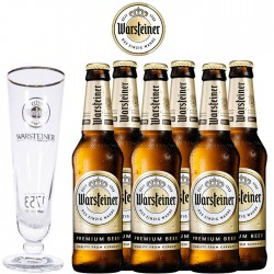 Kit Degustação Warsteiner Premium com 6 Cervejas e 1 Copo