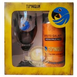Kit da Cerveja Tupiniquim Efeito Galaxy com 1 Lata e 1 Copo