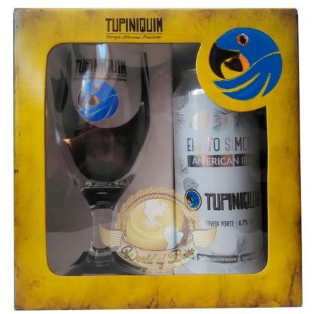 Kit da Cerveja Tupiniquim Efeito Simcoe com 1 Lata e 1 Copo