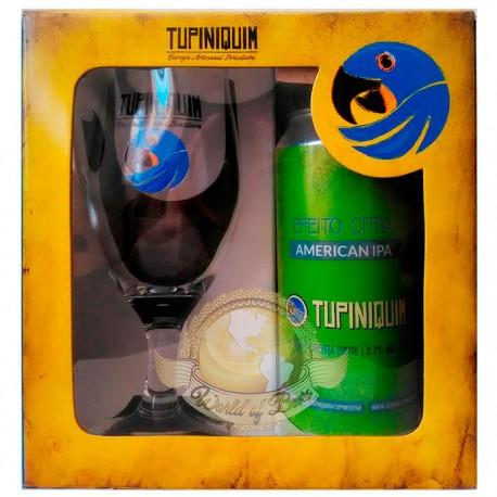Kit da Cerveja Tupiniquim Efeito Citra com 1 Lata e 1 Copo