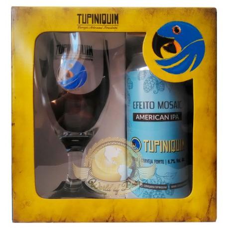 Kit da Cerveja Tupiniquim Efeito Mosaic com 1 Lata e 1 Copo