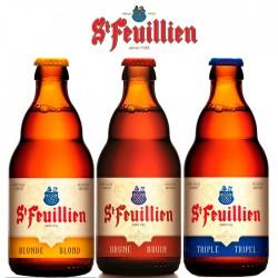 Kit Degustação St Feuillien com 3 Cervejas