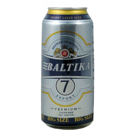 Cerveja Russa Baltika 7 Export Lata 900ml