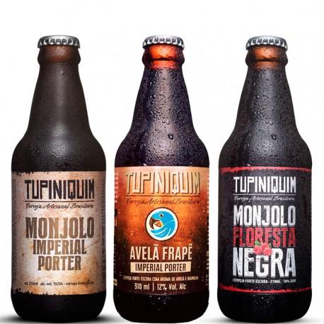 Kit Degustação Tupiniquim Imperial Porter com 3 Cervejas