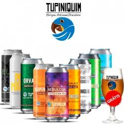 Kit Degustação Tupiniquim com 9 Cervejas e 1 Copo Grátis