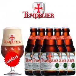 Kit Tempelier com 5 Cervejas 330ml e 1 Taça Grátis!