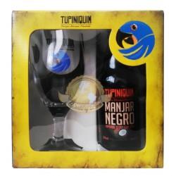 Kit da Cerveja Tupiniquim Manjar Negro com 1 Garrafa e 1 Copo