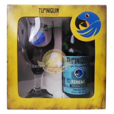 Kit da Cerveja Tupiniquim Fenemê com 1 Garrafa e 1 Copo