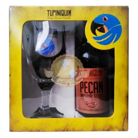 Kit da Cerveja Tupiniquim Pecan com 1 Garrafa e 1 Copo