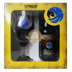 Kit da Cerveja Tupiniquim Avelã Frapê com 1 Garrafa e 1 Copo