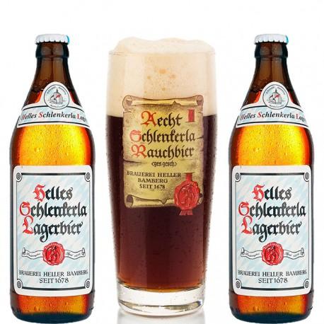 Kit Helles Schlenkerla Lagerbier com 2 Cerveja e 1 Copo