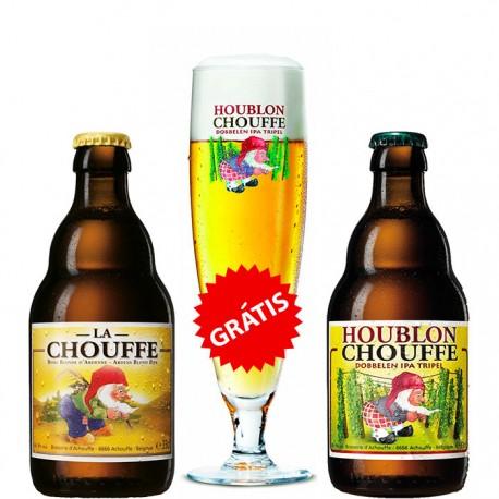 Kit La Chouffe com 2 Cervejas e 1 Copo Grátis