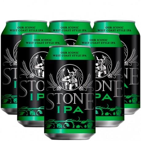 Kit com 6 Cervejas Americanas Stone IPA 355ml