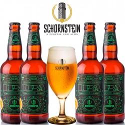 Kit Degustação Schornstein IPA com 4 Cervejas e 1 Taça