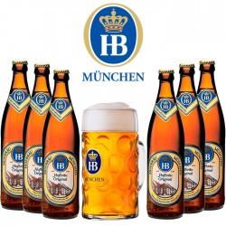 Kit Degustação HB com 6 Cervejas e 1 Caneca 500ml