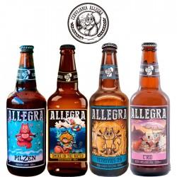 Kit Degustação Allegra com 4 Cervejas 500ml
