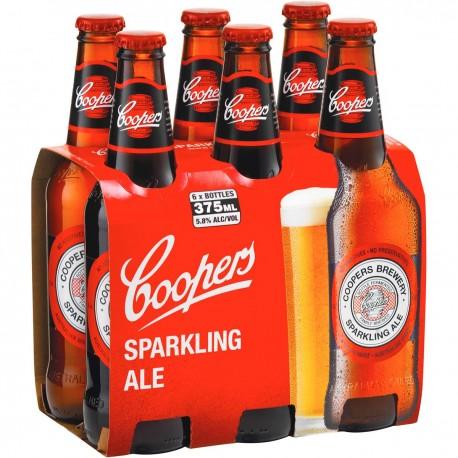 Pack com 6 Cervejas Australiana Coopers Sparkling Ale 375ml