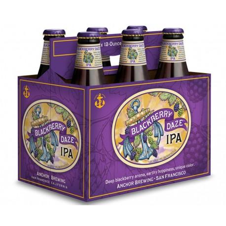 Pack com 6 Cervejas Americanas Anchor Blackberry Daze IPA 355ml
