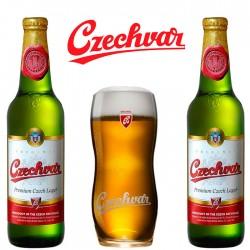 Kit Degustação Czechvar com 2 Cervejas e 1 Copo
