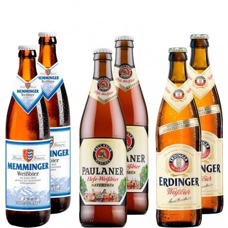 Kit Degustação de Cervejas de Trigo Alemães Com 6 Garrafas
