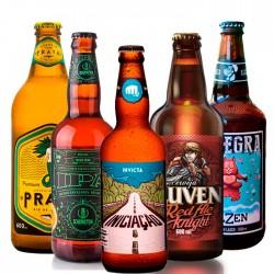 Kit Degustação Nacionais com 5 Cervejas
