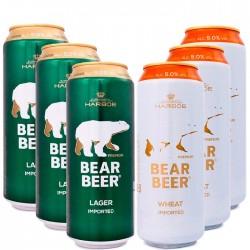 Kit Degustação da Cerveja Bear Beer com 6 Latas