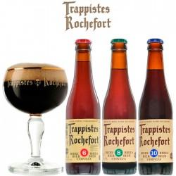 Kit Degustação Trappistes Rochefort com 3 Cervejas e 1 Copo