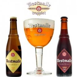 Kit Degustação Westmalle com 2 Cervejas e 1 Copo