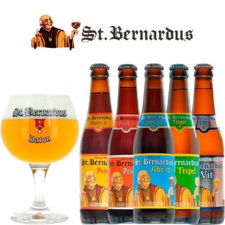 Kit Degustação St. Bernardus com 5 Cervejas e 1 Copo
