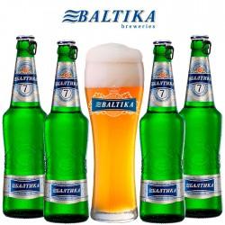 Kit Degustação Baltika com 4 Cervejas e 1 Copo