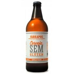Cerveja Farrapos Pilsen Sem Glúten 600ml