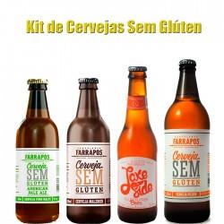 Kit Degustação de Cervejas Sem Glúten com 4 Garrafas