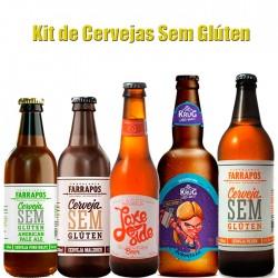 Kit Degustação de Cervejas Sem Glúten com 5 Garrafas