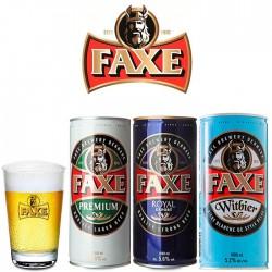 Kit Degustação Faxe com 3 Cervejas de 1 Litro e 1 Copo