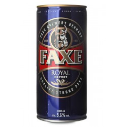 Cerveja Dinamarquesa Faxe Royal Export 1000ml