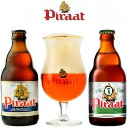Kit Degustação Piraat com 2 Cervejas e 1 Copo
