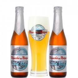 Kit Degustação Blanche des Neiges com 2 Cervejas e 1 Copo