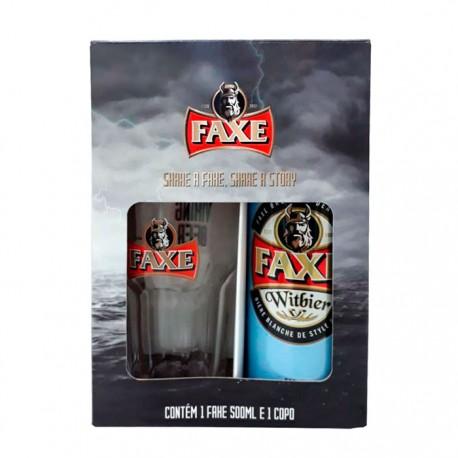 Kit da Cerveja Faxe Witbier Com 1 Lata 500ml e 1 Copo