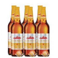 Pack da Cerveja Tcheca Zlatá Praha com 6 Unidades