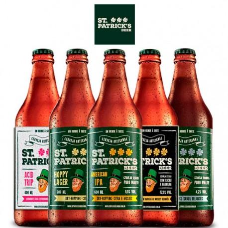 Kit Degustação St. Patrick's com 5 Cervejas