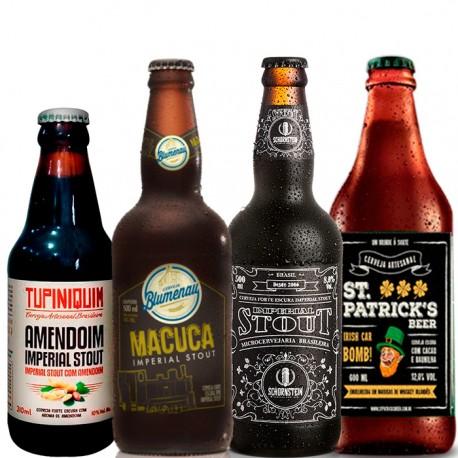 Kit Degustação Imperial Stout 4 Cervejas