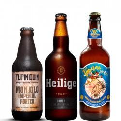 Kit Degustação Porter com 3 Cervejas