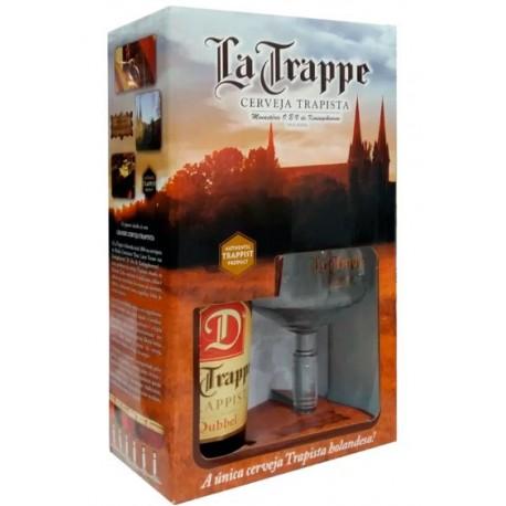 Kit La Trappe Dubbel com 1 Cerveja 750ml e 1 Taça
