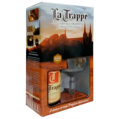 Kit La Trappe Tripel com 1 Cerveja 750ml e 1 Taça