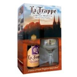 Kit La Trappe Quadrupel com 1 Cerveja 750ml e 1 Taça