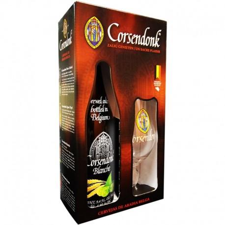 Kit Corsendonk Blanche com 1 Cerveja 750ml e 1 Taça