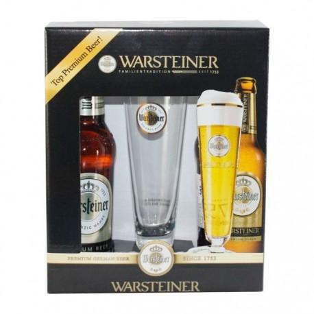 Kit Warsteiner com 2 Cervejas e 1 Copo