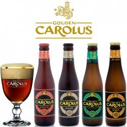 Kit Degustação Gouden Carolus com 4 Cervejas e 1 Copo