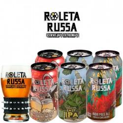 Kit Degustação Roleta Russa com 6 Latas e 1 Copo